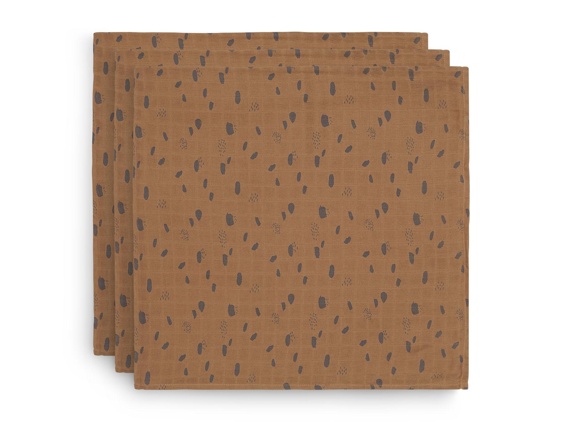 Swaddle Mulltücher 3er Set Spot karamell (Gr. 70x70 cm)