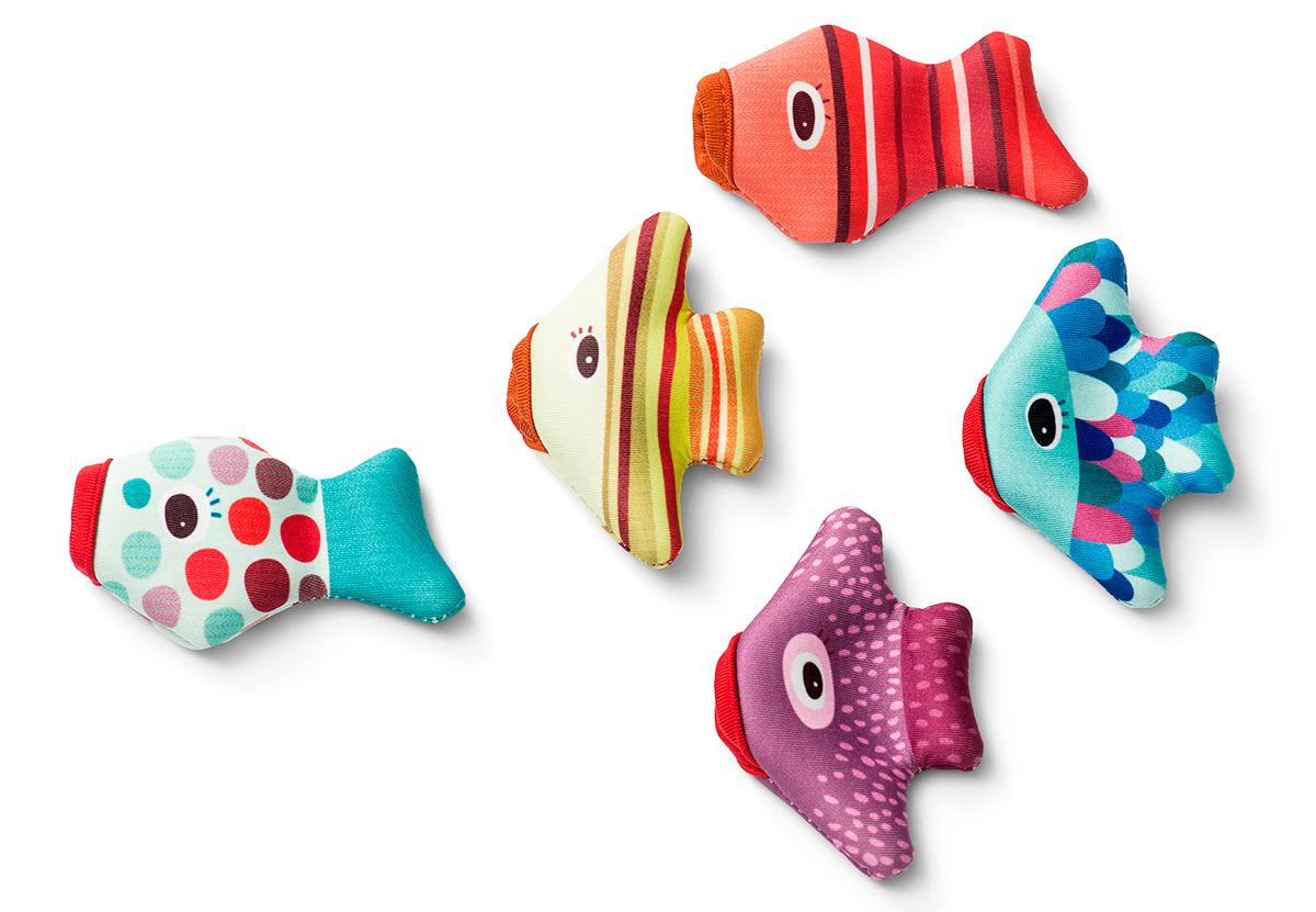 Badespaß 5 bunte Fische