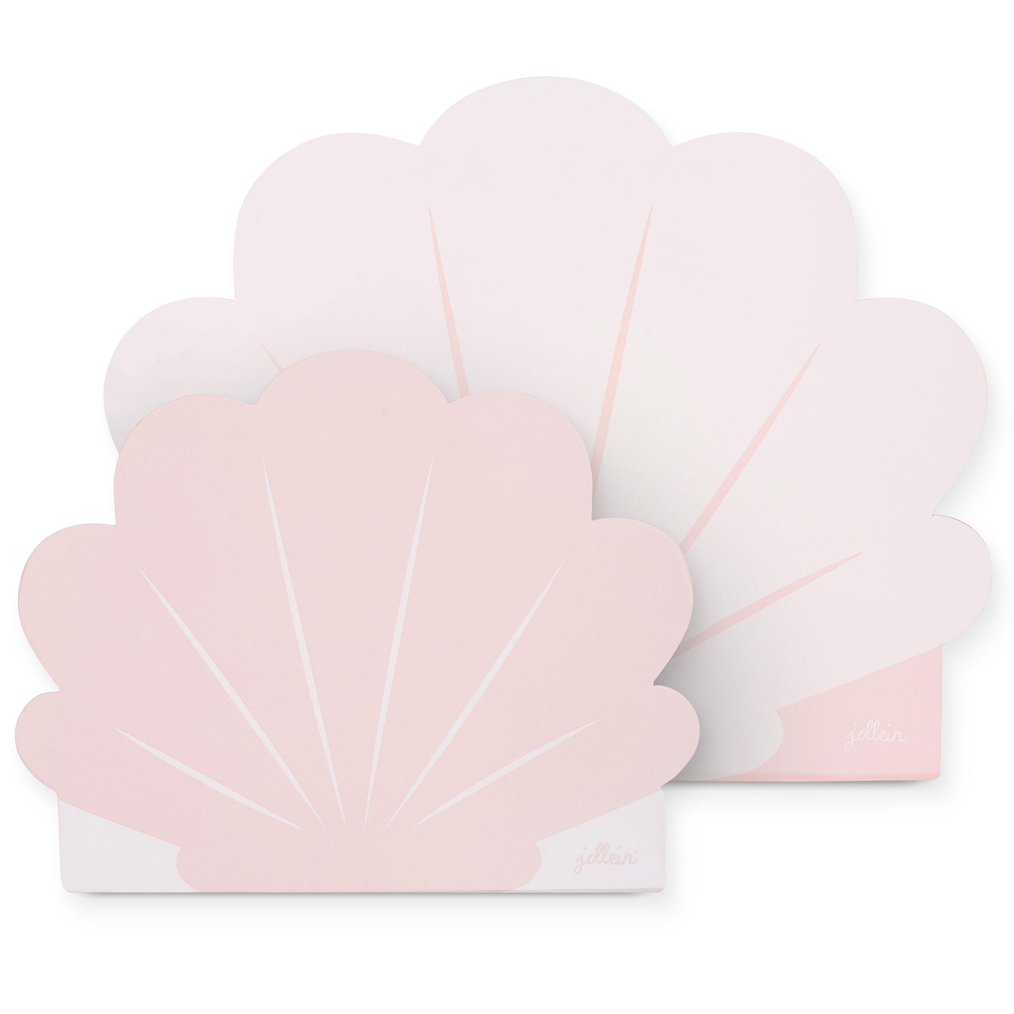 Papp Koffer Muschel rosa 2er Set