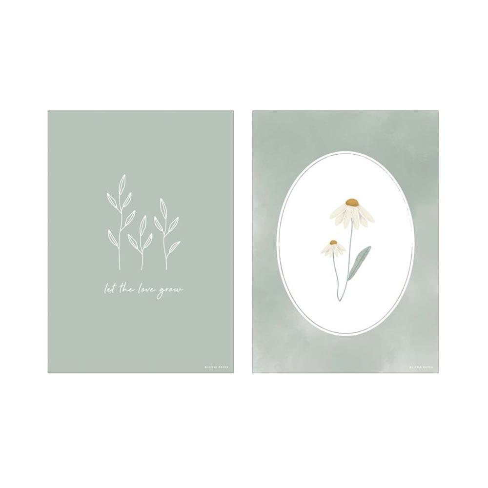 Poster A3 2 bedruckte Seiten Wild Flowers