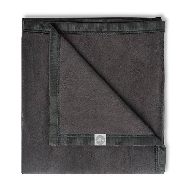Decke Uni anthrazit 75x100 cm