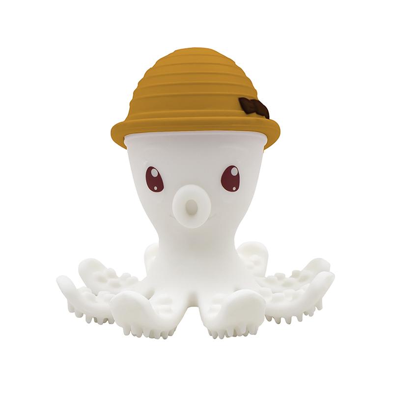 Beißring Silikon Oktopus ocker