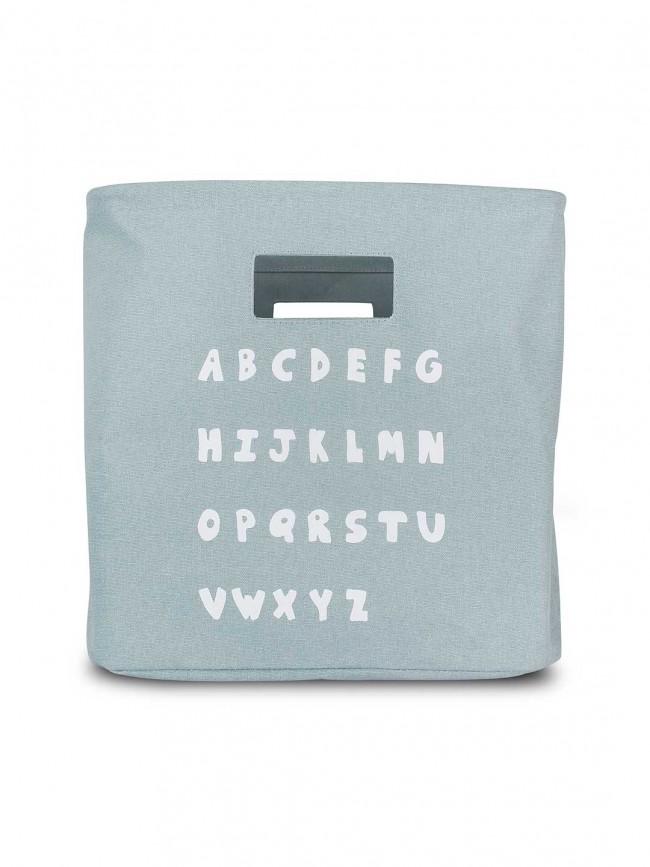 Korb / Kiste / Box zur Aufbewahrung ABC stonegreen