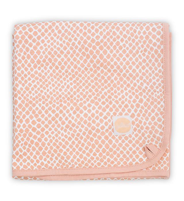 Babydecke Jersey Schlange blass rosa 75x100 cm