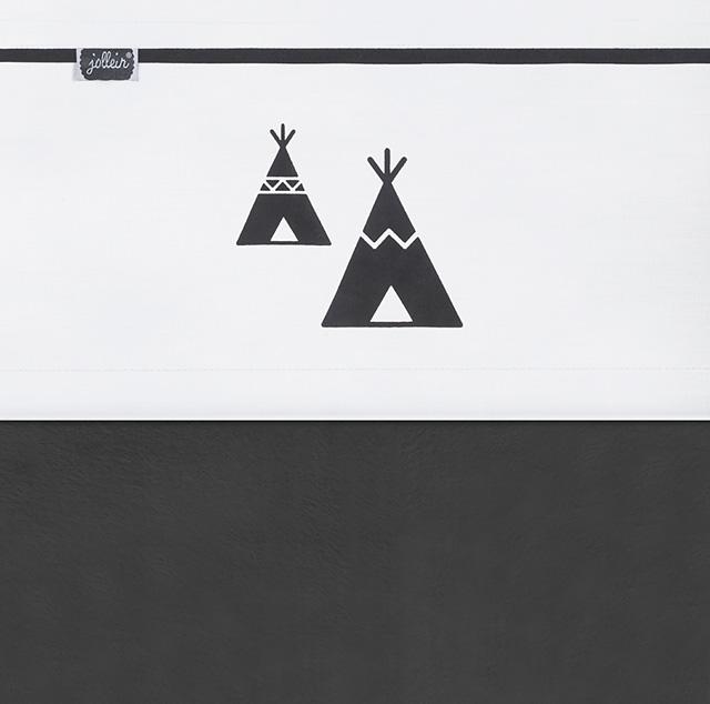 Jollein Laken Indians schwarz weiß 120 x 150 cm AV!!!