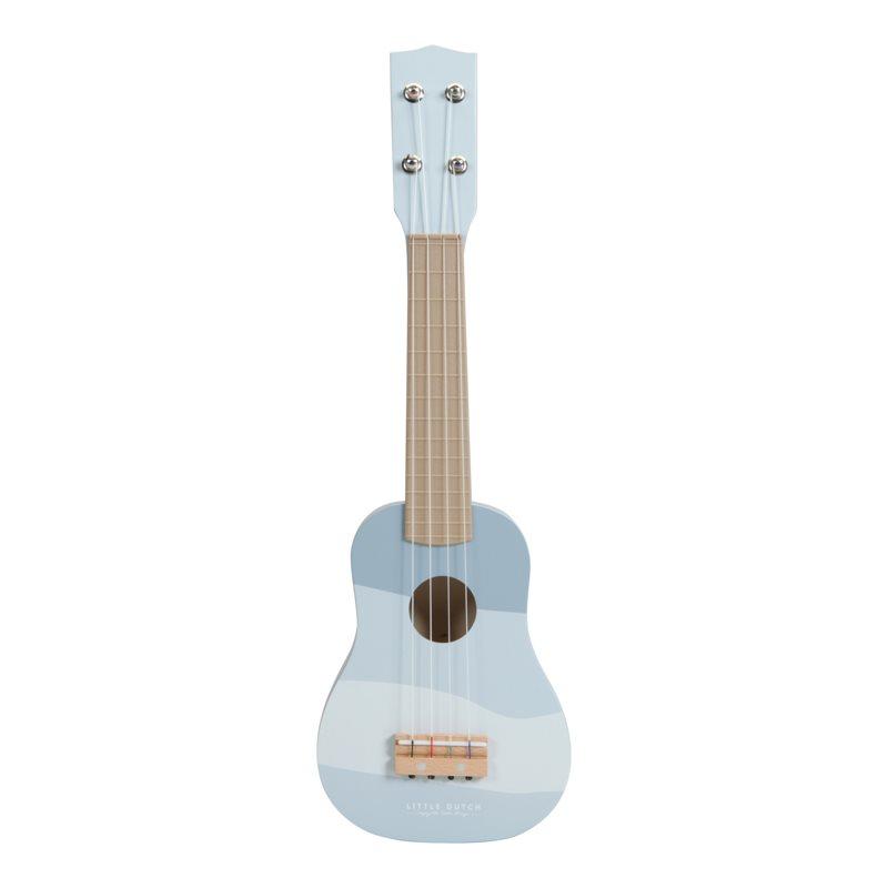 Holz Kindergitarre puderblau