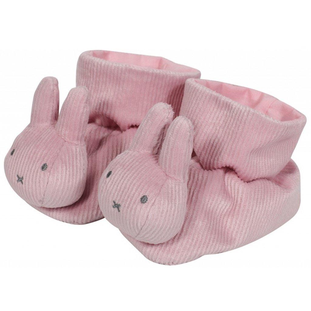 Baby Hausschuhe Pantoffeln Miffy Hase Cord rosa onesize
