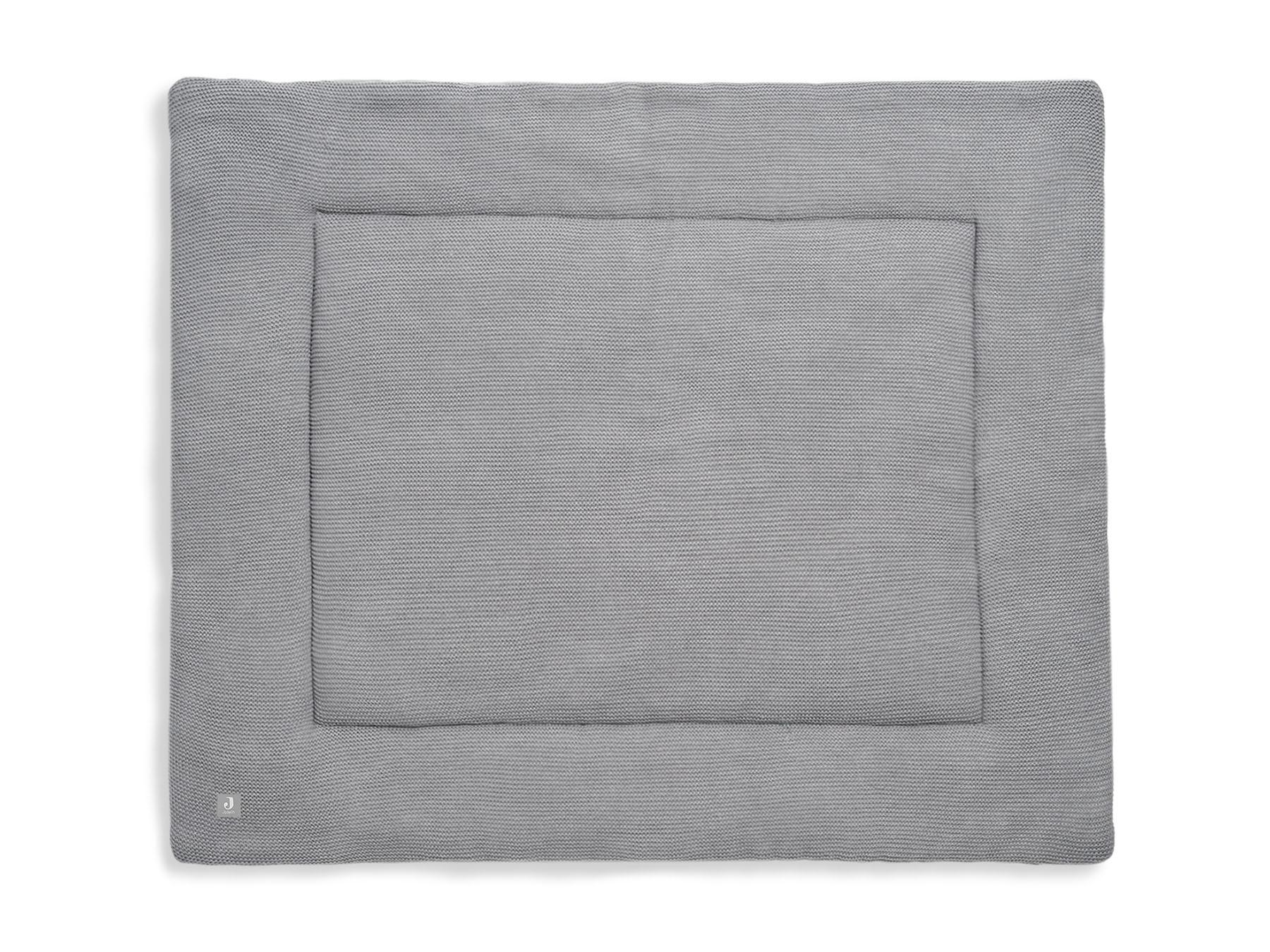 Laufgittereinlage Krabbeldecke Strick Basic Knit grau (80x100 cm)