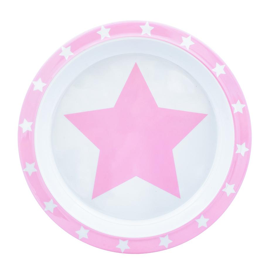 Teller Melamin STARS rosa
