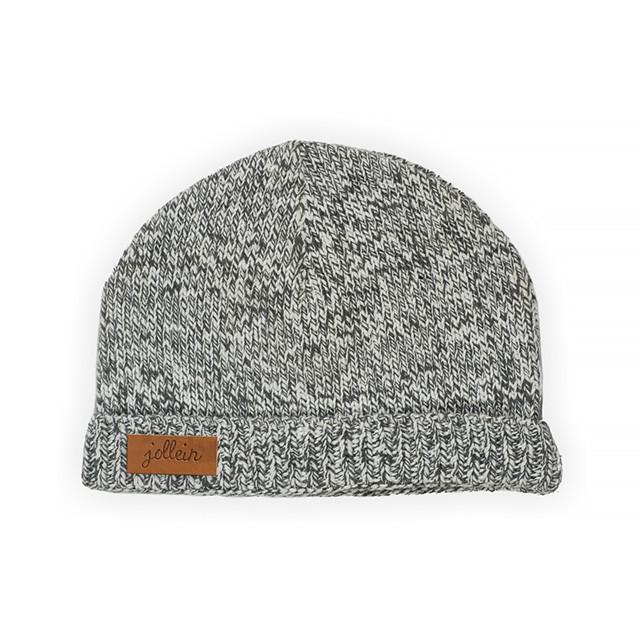 Strick Mütze Stonewashed grau