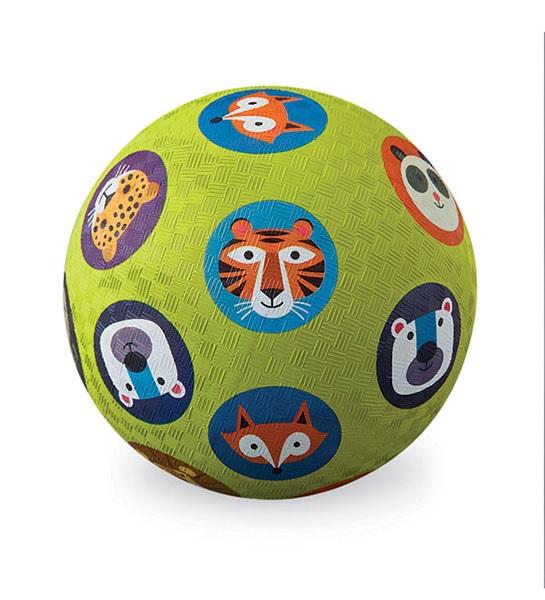Naturkautschuk Ball Tiere grün Ø 18 cm