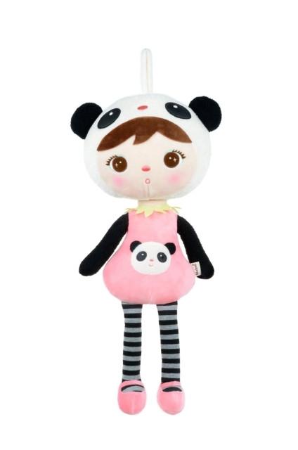 Stoffpuppe Pandabär Mädchen rosa pink 45 cm