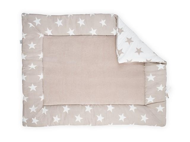 Laufgittereinlage Krabbeldecke Sterne sandbeige (80x100 cm)