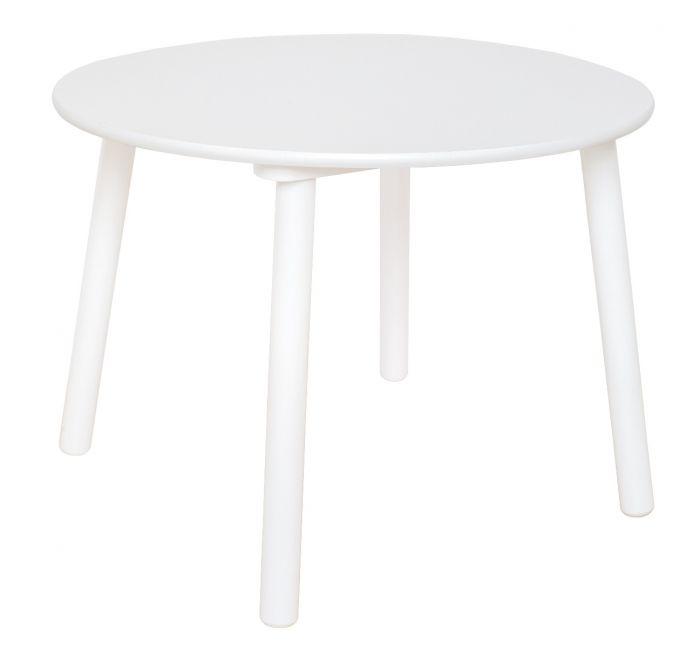 Holz Kindertisch rund weiß Holztisch (60x60x43 cm)