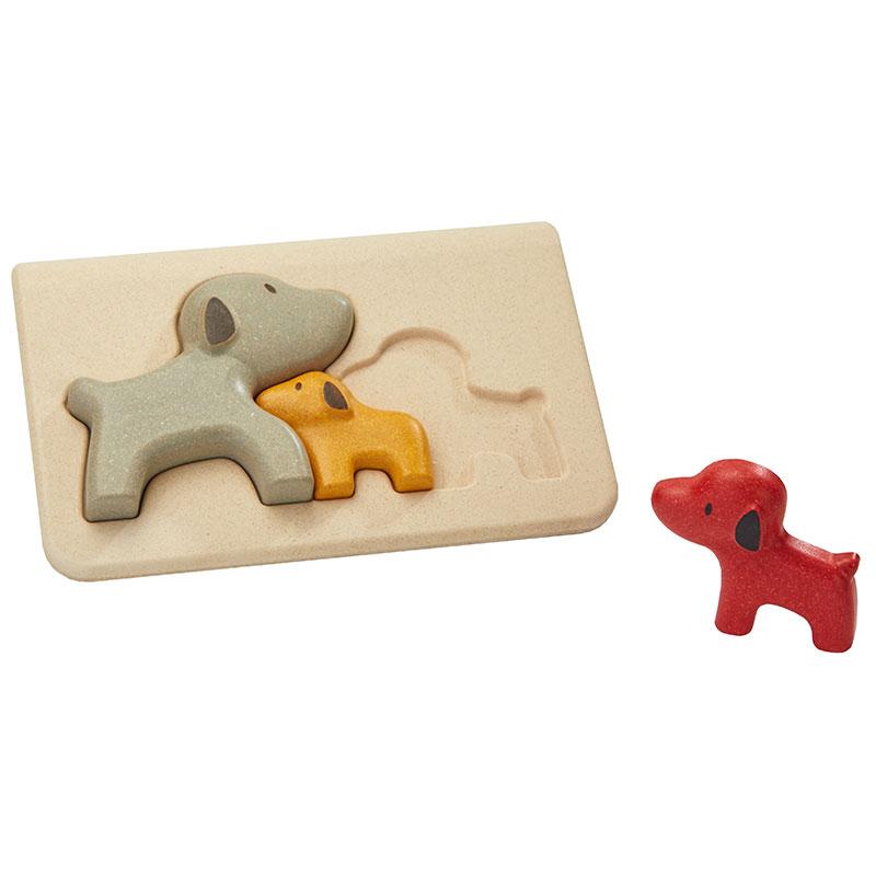 Holz Puzzle Steckspiel Hunde