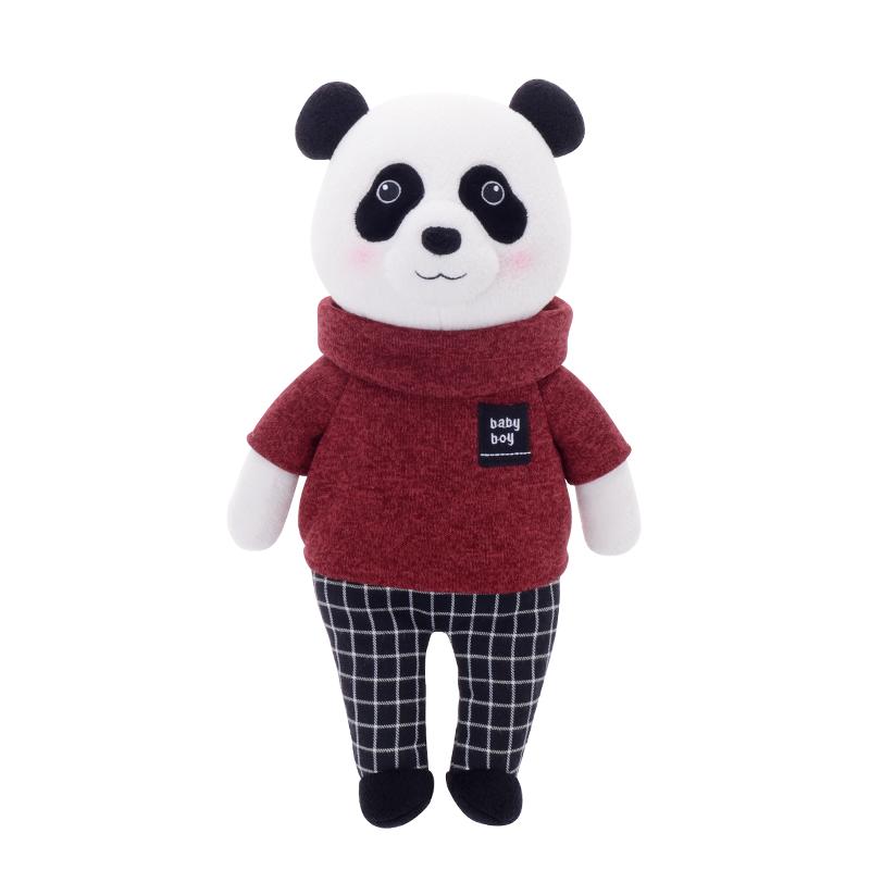 Metoo Stofftier Kuscheltier Mr. Panda Bär rot 32 cm
