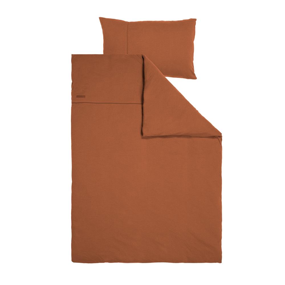 Kinderbettwäsche Pure rost (Gr. 100x140 cm + 40x60 cm)