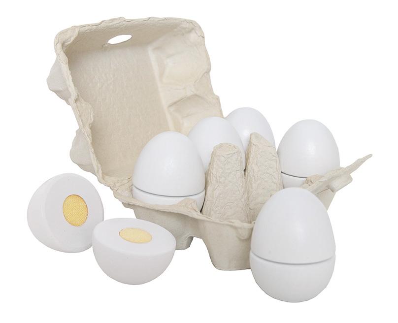 Holz Eier im Karton