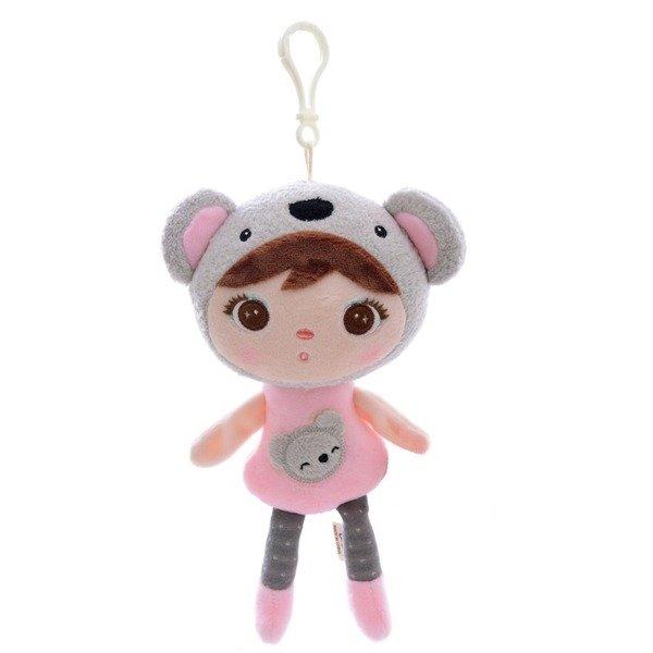 Mini Stoffpuppe Koala Bär Mädchen mit Anhänger 22 cm