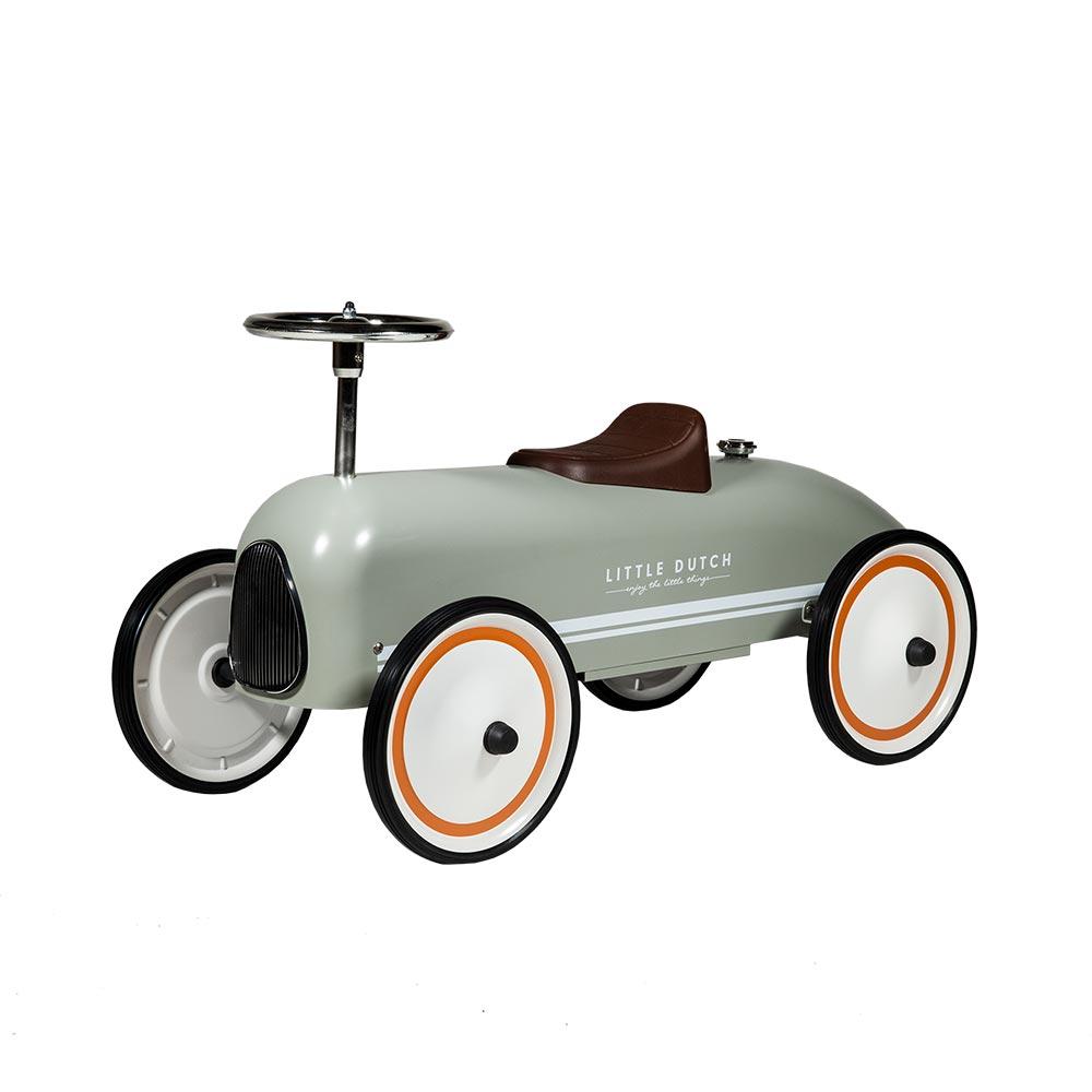 Retro Roller Laufauto olive