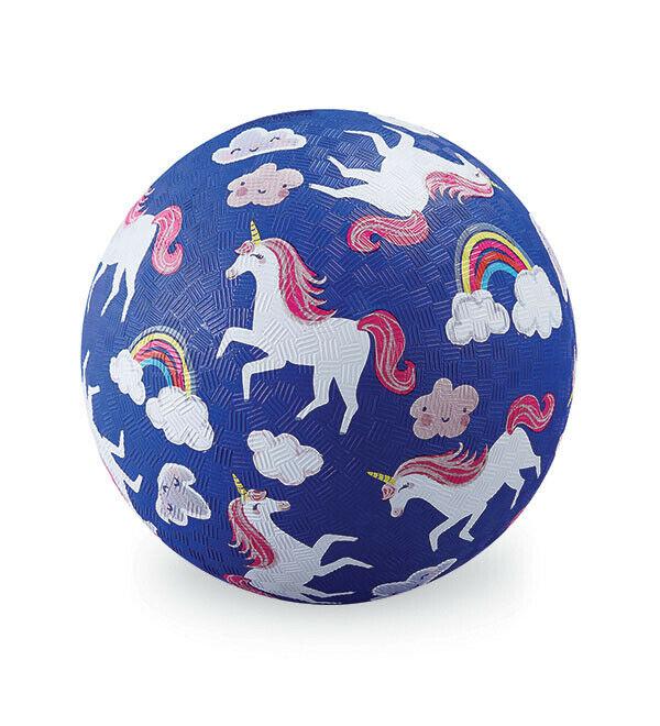 Ball Naturkautschuk  Einhorn dunkelblau Ø 18 cm
