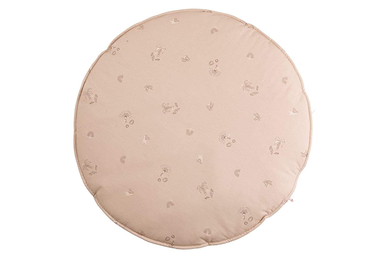Krabbeldecke Spielmatte rund puderbeige ø100cm