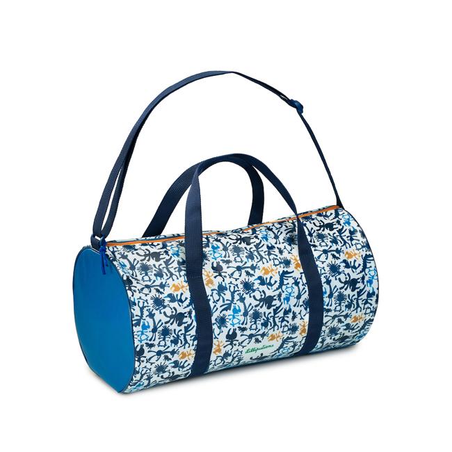 Sporttasche Reisetasche Nashorn Marius weiß blau