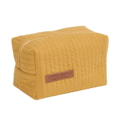 Pflegetasche Täschchen Etui für Unterwegs Pure ocker gelb