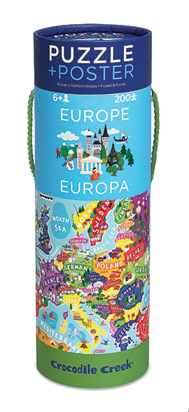 Puzzle + Poster Europa 200 Teile