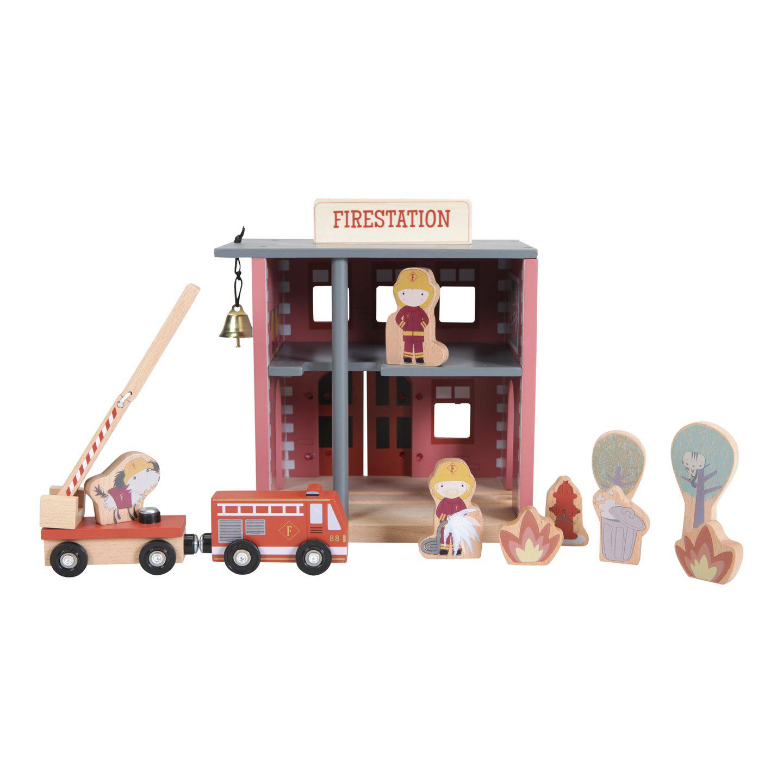 Holz Haus Feuerwache Feuerwehrstation mit Zubehör