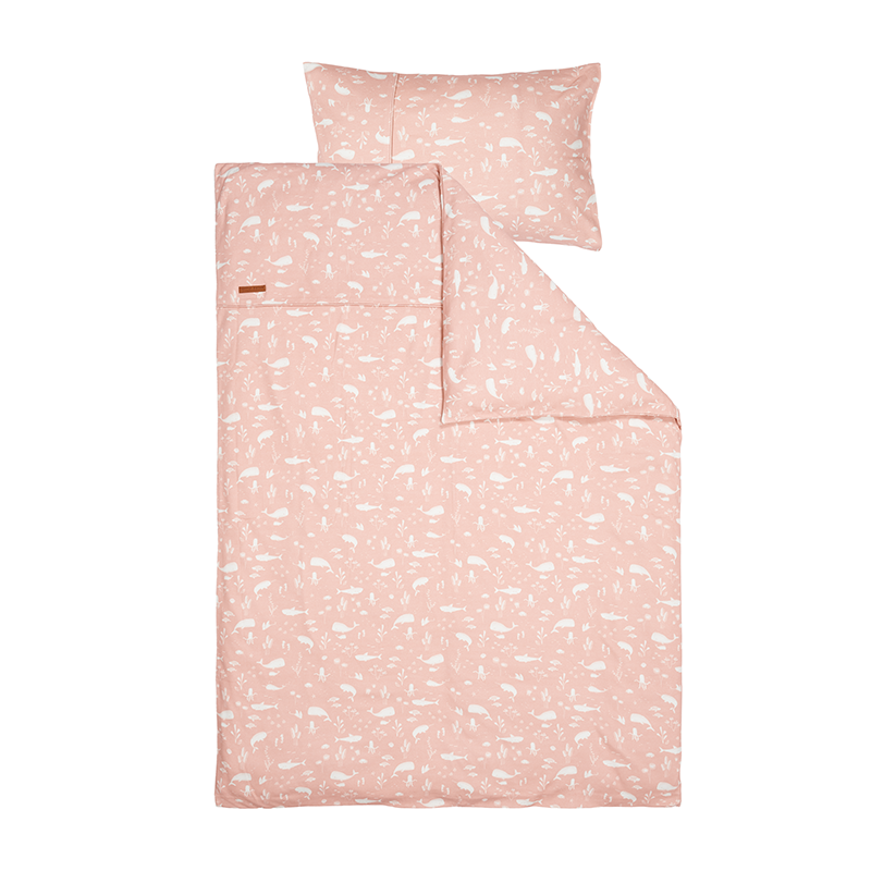 Kinderbettwäsche Ocean rosa (100x140 cm + 40x60 cm)