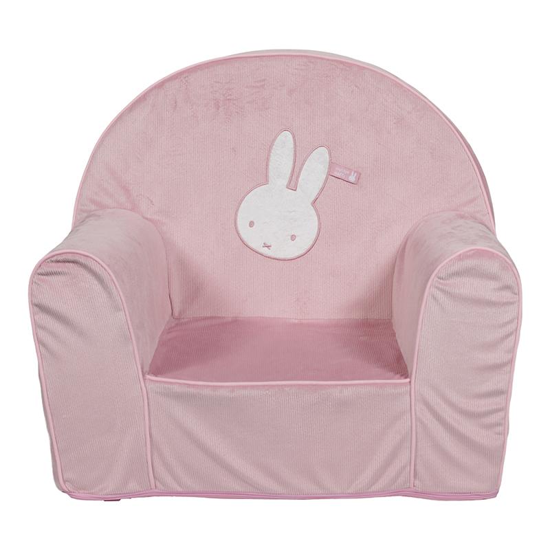 Miffy Hase Cord Kindersessel rosa