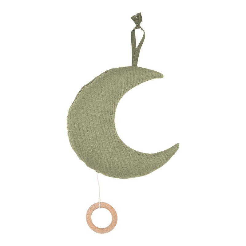 Spieluhr Mond Pure olive grün