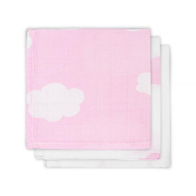 Jollein Spucktücher Musselin Wolken rosa 3er Set AV!!!