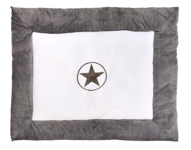 Laufgittereinlage Krabbeldecke Stern grau (80x100 cm)