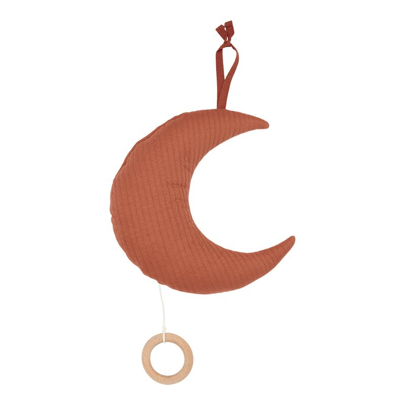 Spieluhr Mond Pure rost orangerot