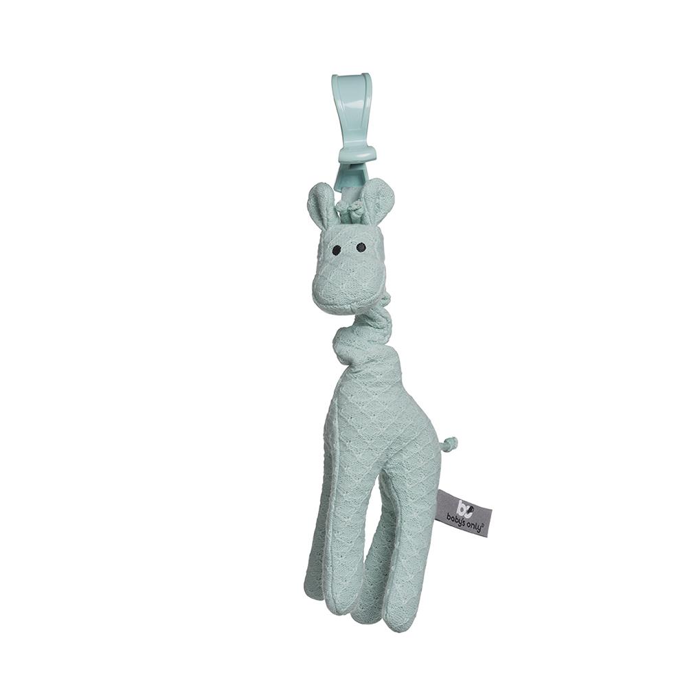 Anhänger für die Babyschale vibrierende Giraffe mint