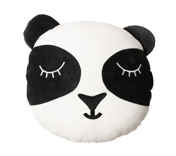 Samt Spielkissen Pandabär 36 cm