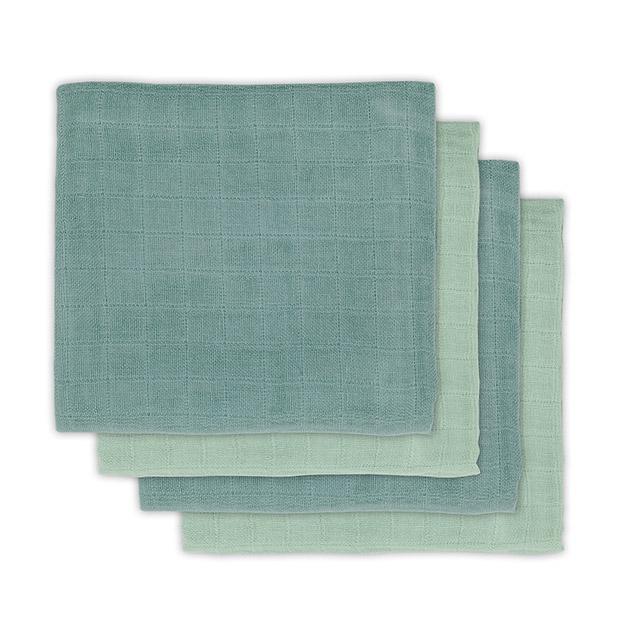 Mulltücher Bambus 4er Set stonegreen (Gr. 70x70 cm)