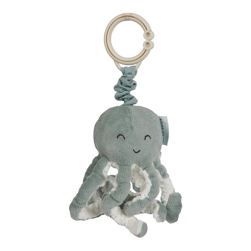 Aufziehtier Oktopus Tintenfisch Spielzeug für Babyschale und Kinderwagen Ocean mint