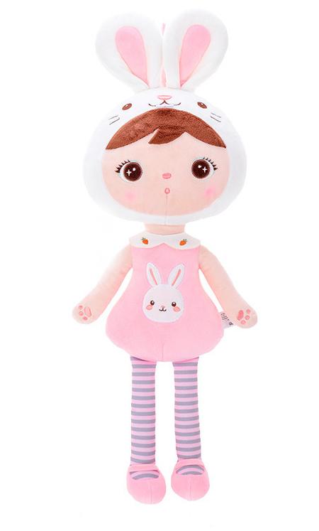 Stoffpuppe Hase Kaninchen Mädchen rosa weiß 45 cm