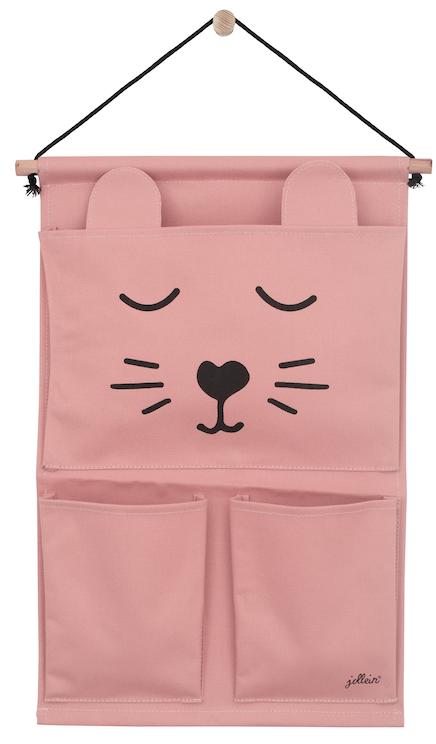 Aufbewahrungstasche für die Wand Wandorganizer Animal Club Bär rosa