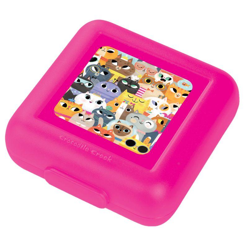 Brotdose Katzen pink
