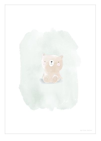 Poster doppelseitig bedruckt Bär & Hase A3