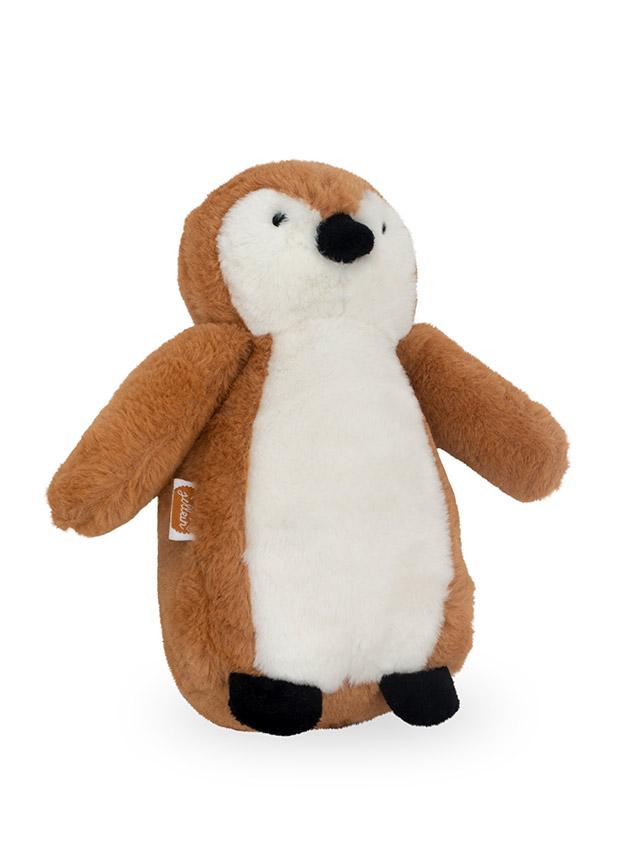 Jollein Stofftier Kuscheltier Pinguin braun 23 cm
