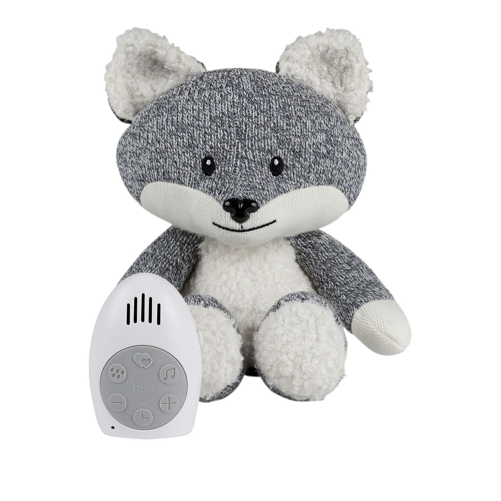 Einschlafhilfe Stofftier Plüschtier mit Comforter Spieluhr Fuchs Robin grau 17 cm