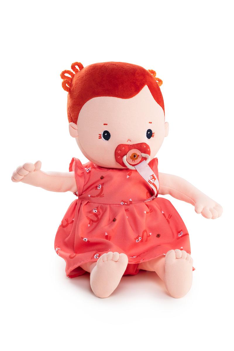 Stoffpuppe Baby Rose mit Zubehör (Gr. 36 cm)