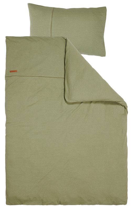 Kinderbettwäsche Pure olive (Gr. 100x140 cm + 40x60 cm)