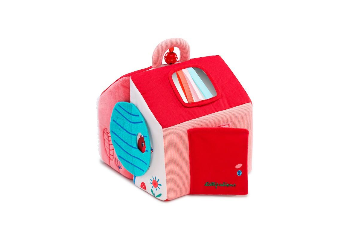 Stoff Activity Entdecker-Spielzeug Rotkäppchens Haus
