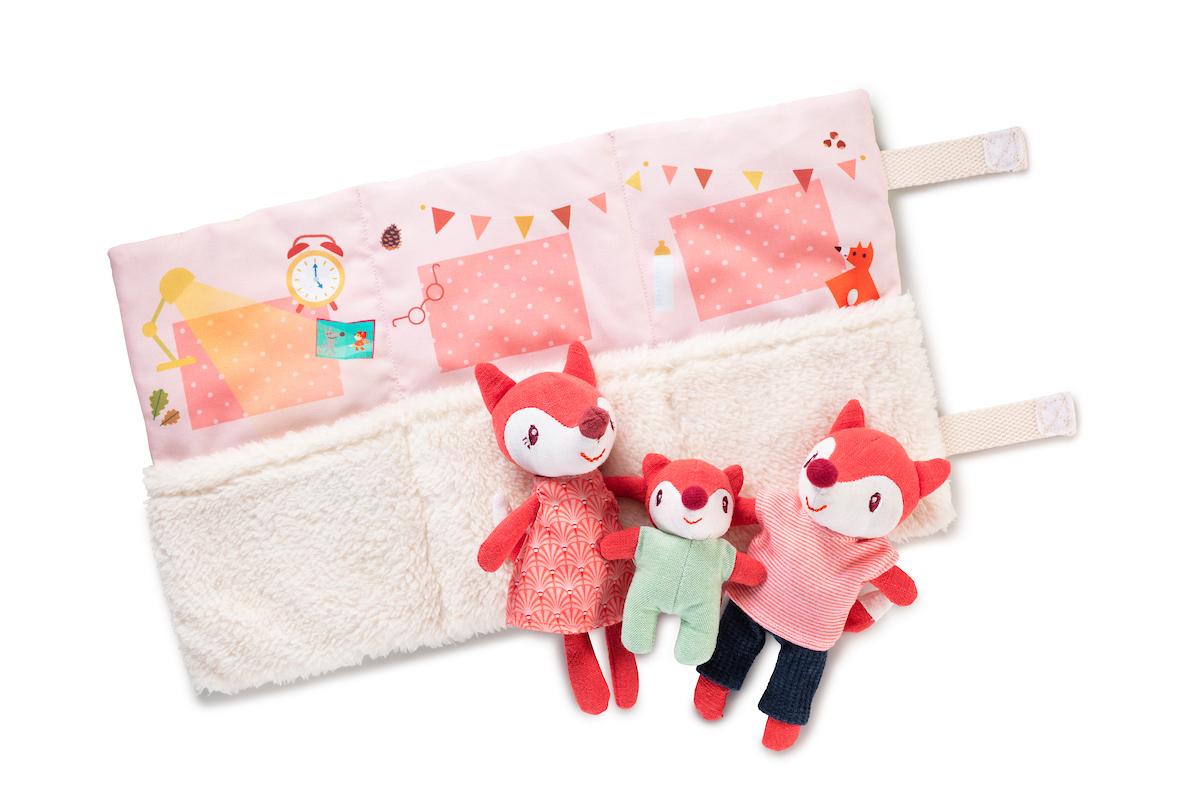 Spielrolle Set mit Stofftieren Familie Fuchs Alice